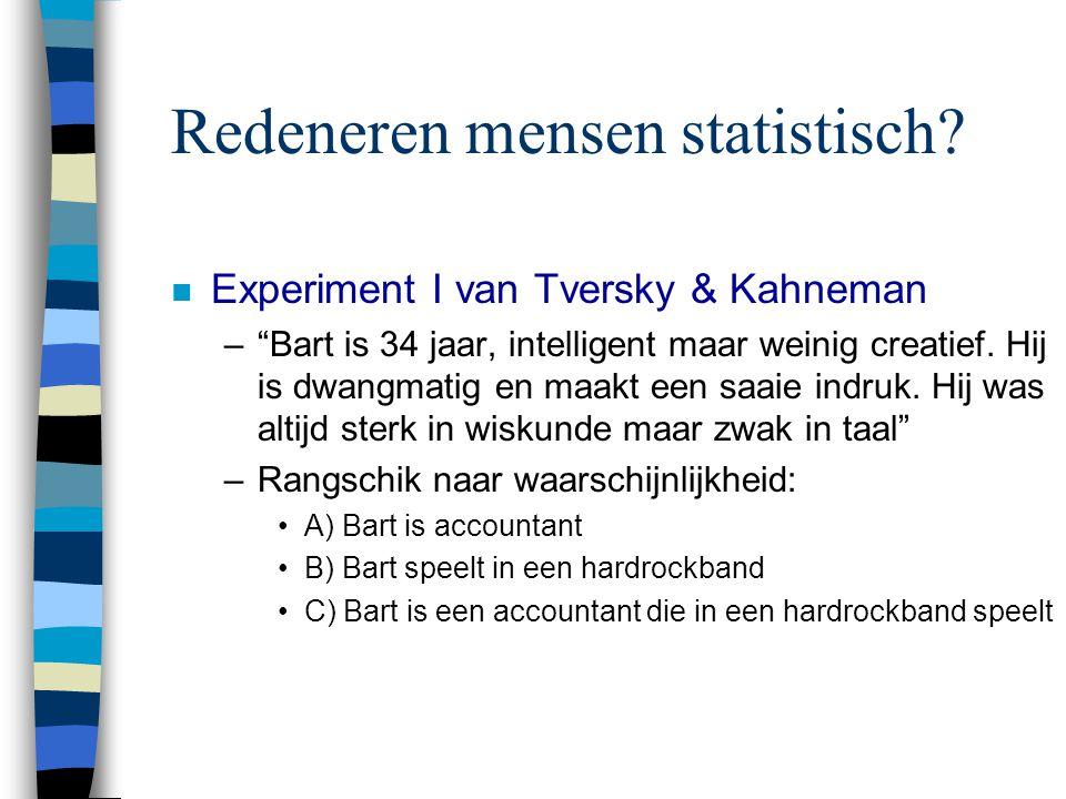 Redeneren mensen statistisch