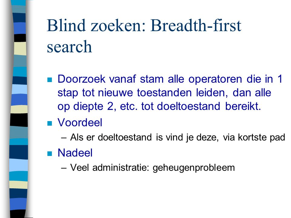 Blind zoeken: Breadth-first search