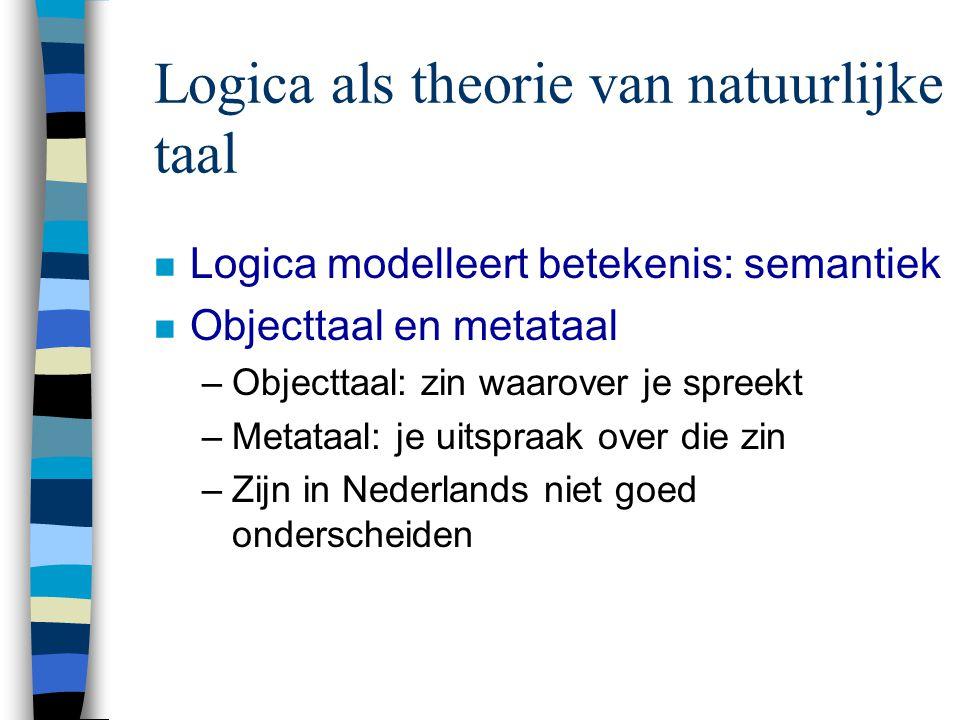 Logica als theorie van natuurlijke taal