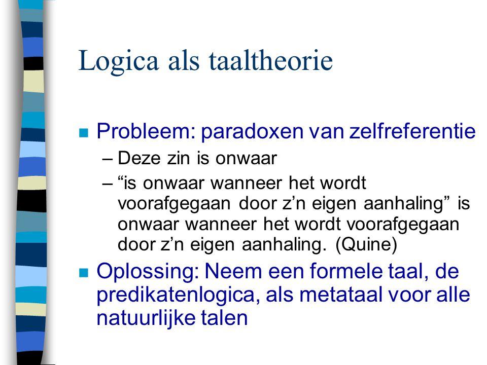 Logica als taaltheorie