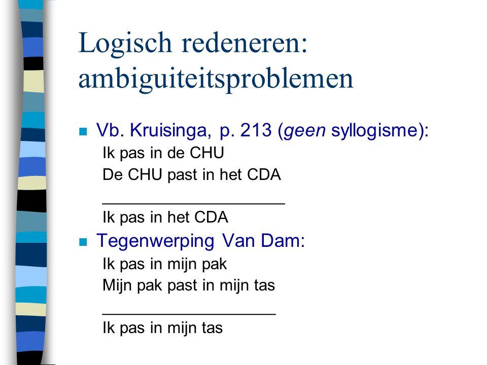 Logisch redeneren: ambiguiteitsproblemen