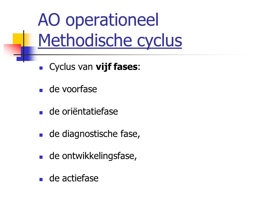 AO operationeel Methodische cyclus
