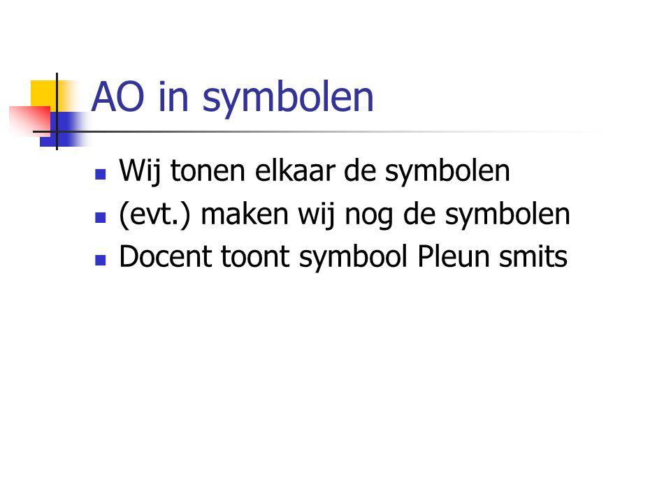 AO in symbolen Wij tonen elkaar de symbolen
