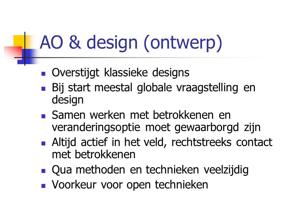 AO & design (ontwerp) Overstijgt klassieke designs