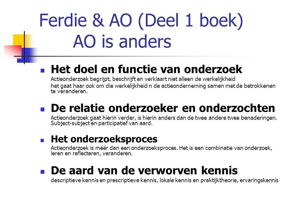 Ferdie & AO (Deel 1 boek) AO is anders