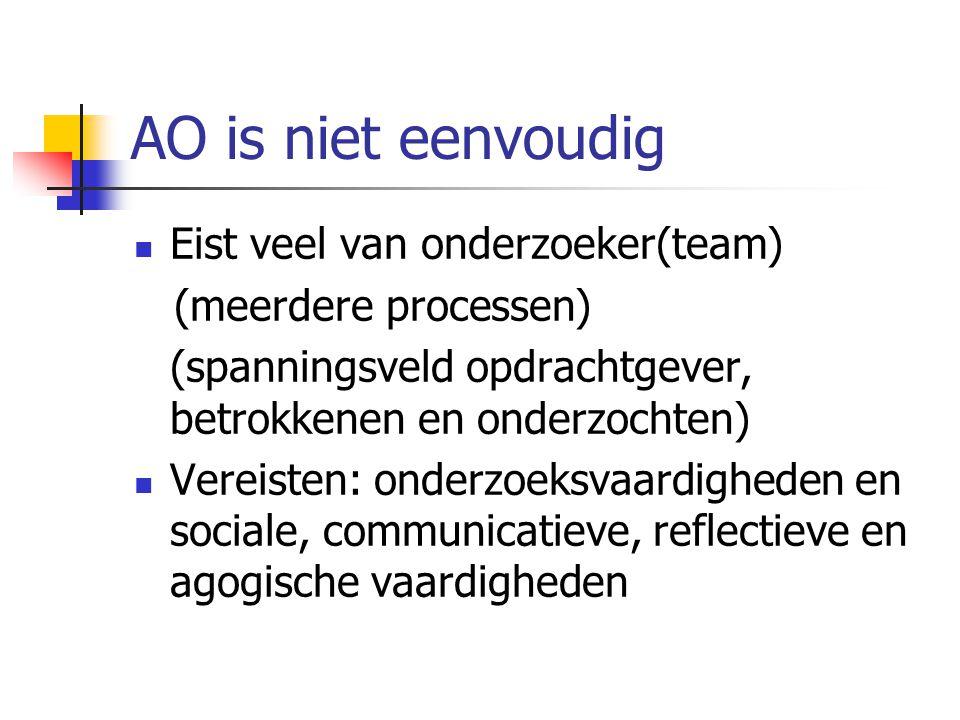 AO is niet eenvoudig Eist veel van onderzoeker(team)