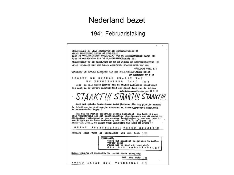 Nederland bezet 1941 Februaristaking