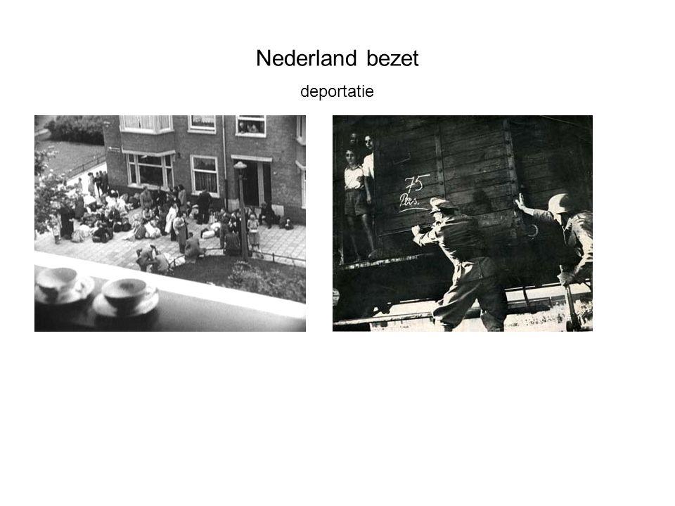 Nederland bezet deportatie