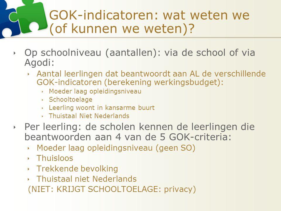 GOK-indicatoren: wat weten we (of kunnen we weten)