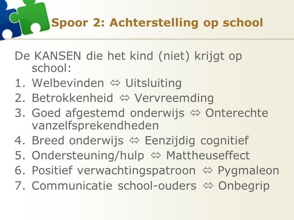 Spoor 2: Achterstelling op school