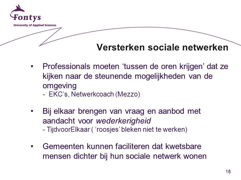 Versterken sociale netwerken