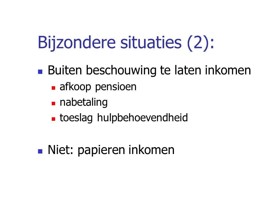 Bijzondere situaties (2):