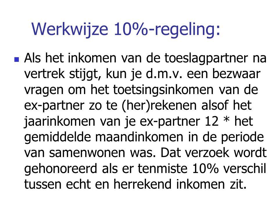 Werkwijze 10%-regeling: