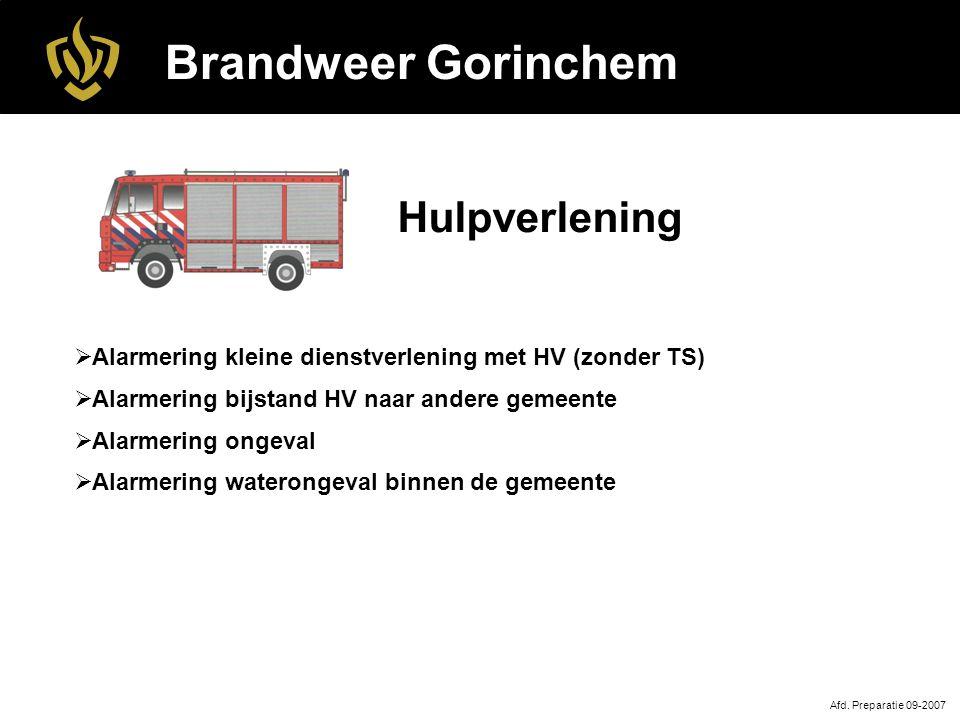 Brandweer Gorinchem Hulpverlening