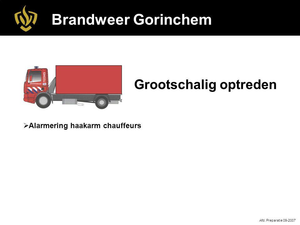 Brandweer Gorinchem Grootschalig optreden