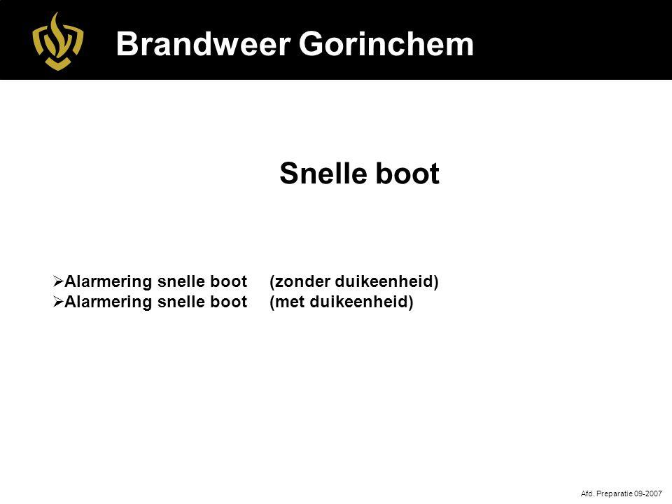 Brandweer Gorinchem Snelle boot