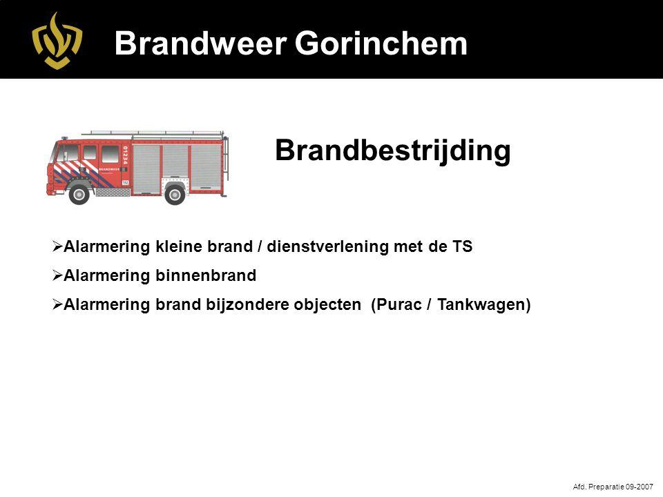 Brandweer Gorinchem Brandbestrijding