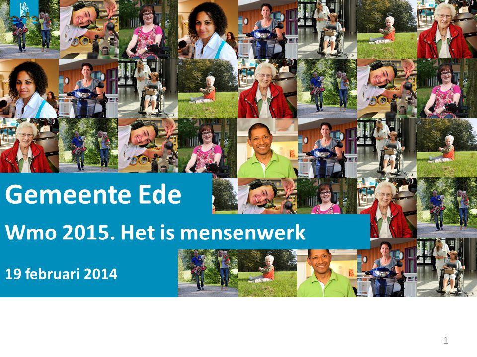 Gemeente Ede Wmo 2015. Het is mensenwerk 19 februari 2014