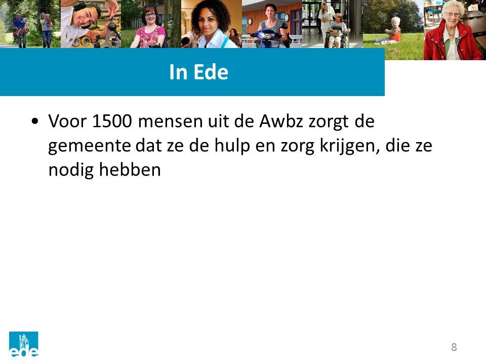 In Ede Voor 1500 mensen uit de Awbz zorgt de gemeente dat ze de hulp en zorg krijgen, die ze nodig hebben.