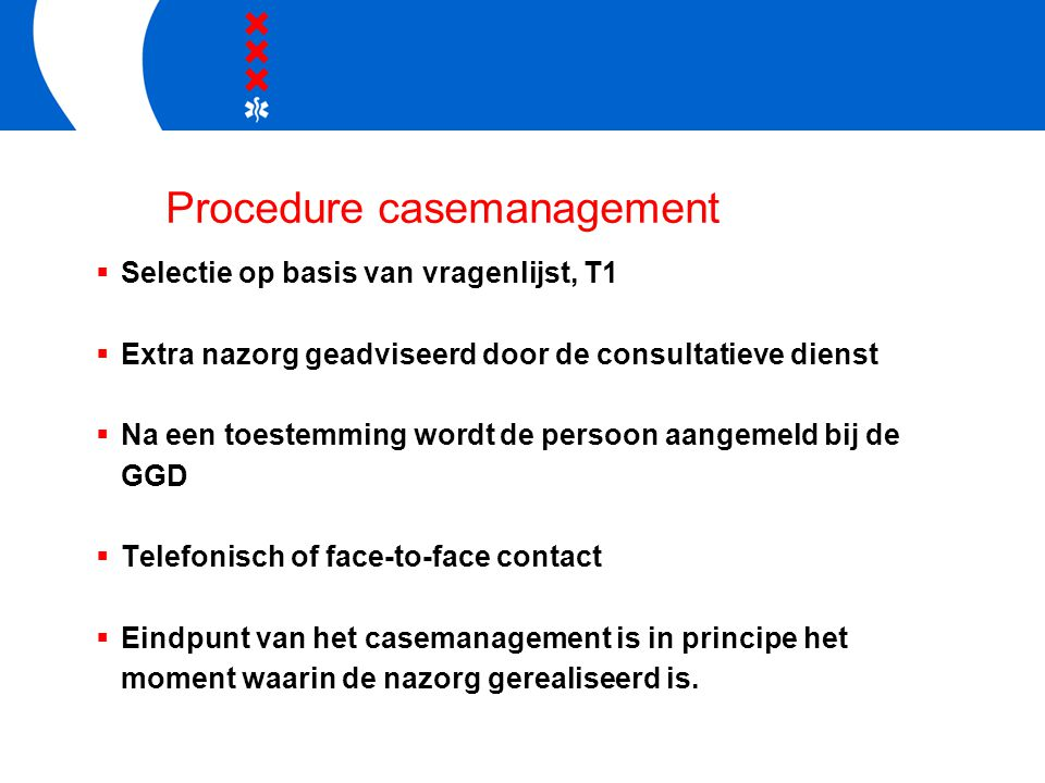 Procedure casemanagement