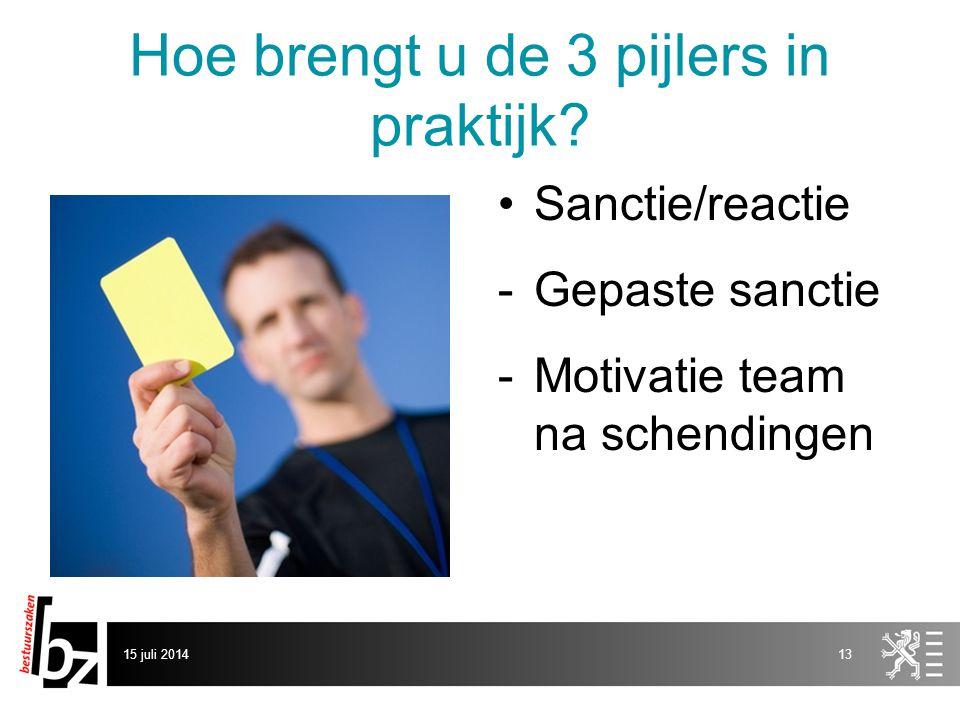 Hoe brengt u de 3 pijlers in praktijk
