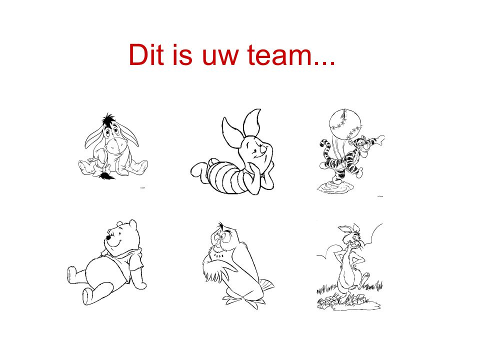 Dit is uw team...