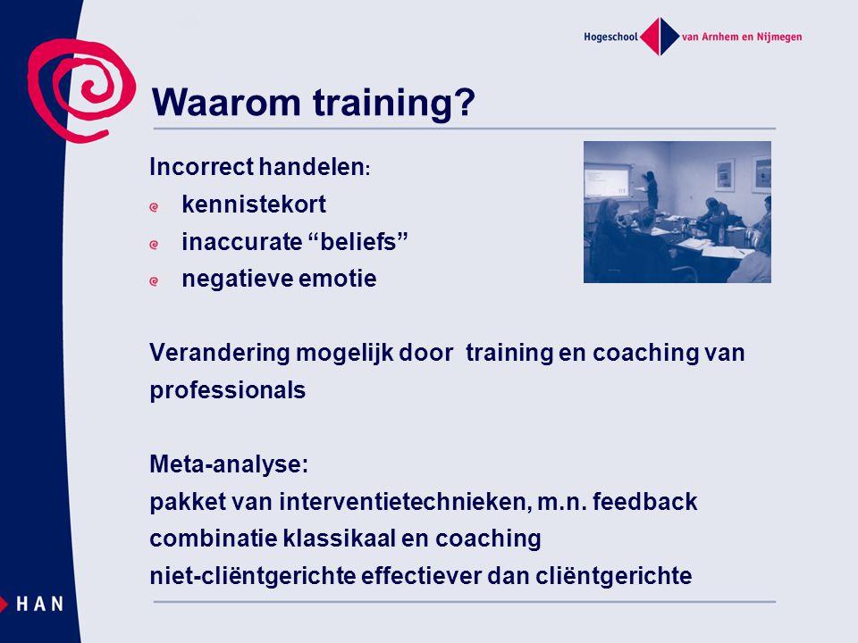 Waarom training Incorrect handelen: kennistekort inaccurate beliefs