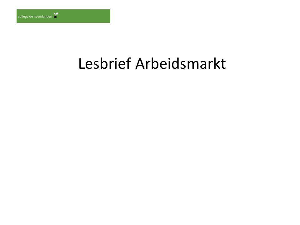 Lesbrief Arbeidsmarkt