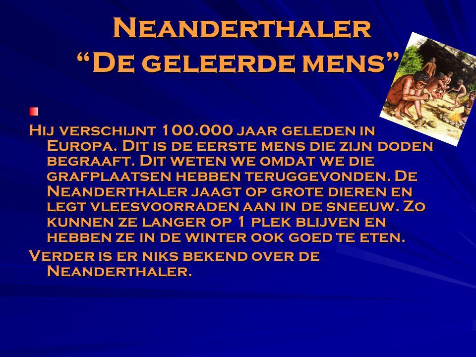 Neanderthaler De geleerde mens