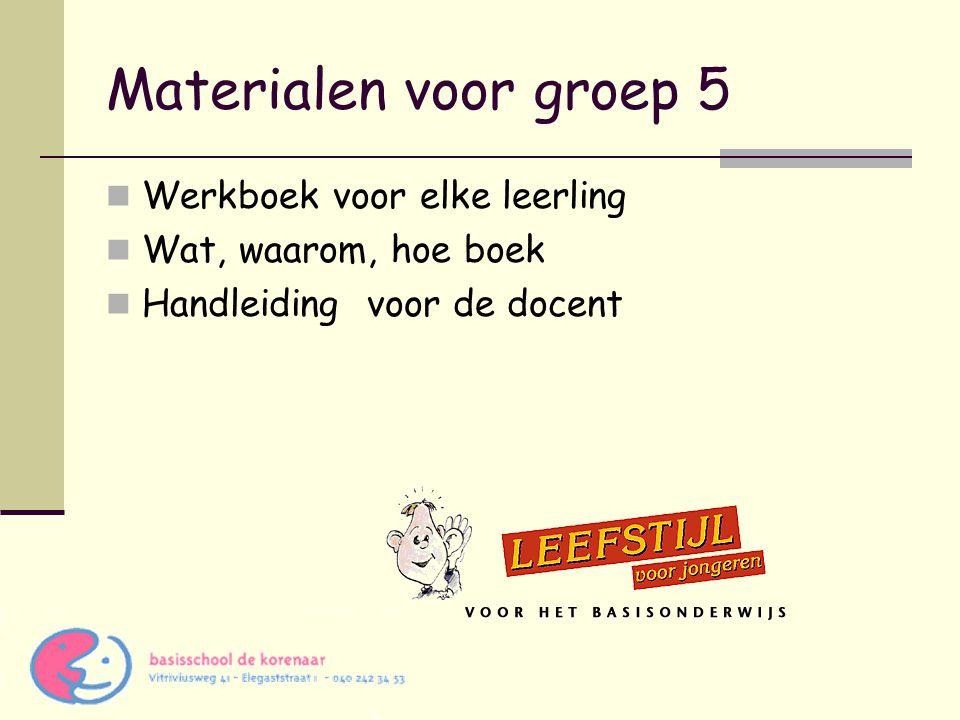 Materialen voor groep 5 Werkboek voor elke leerling