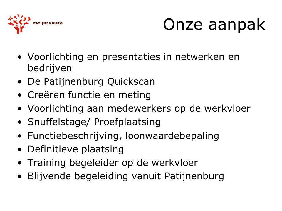 Onze aanpak Voorlichting en presentaties in netwerken en bedrijven