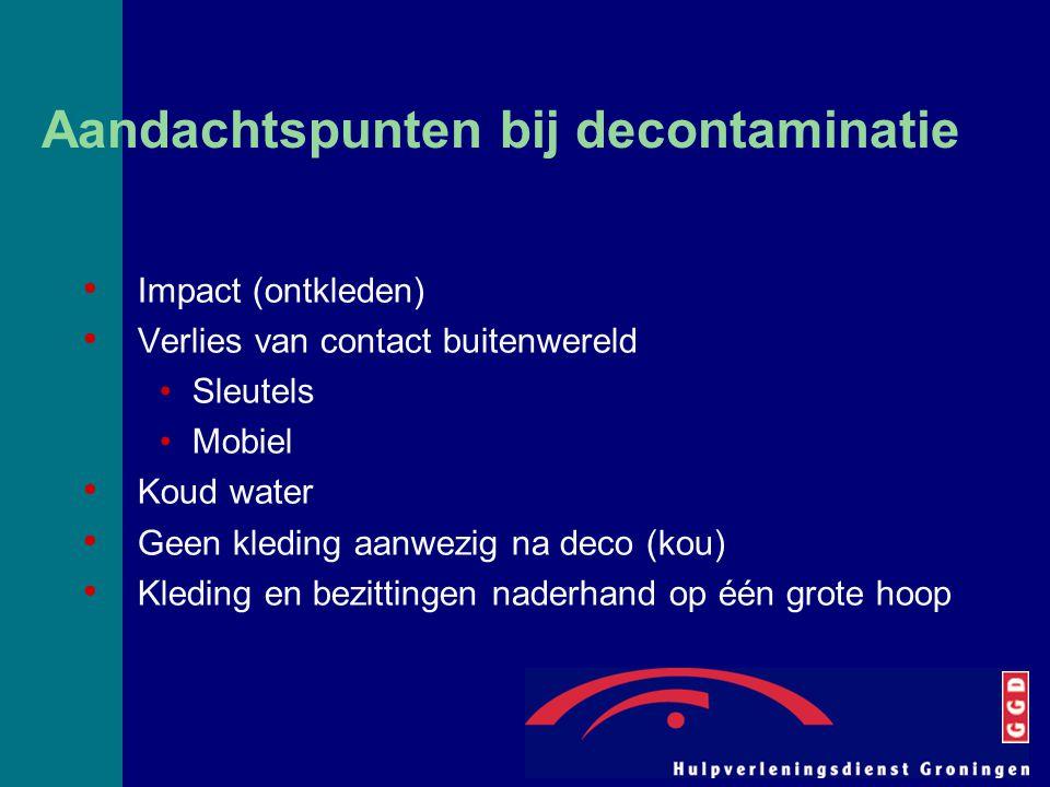 Aandachtspunten bij decontaminatie
