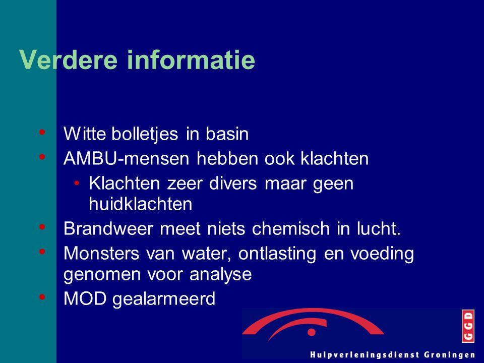 Verdere informatie Witte bolletjes in basin