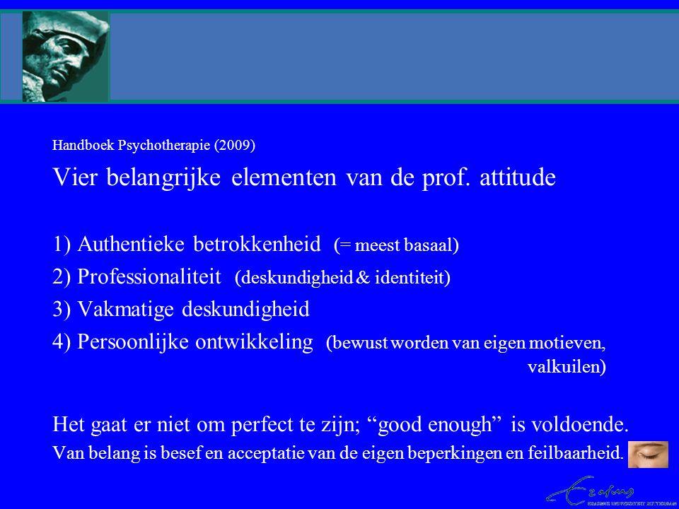 Vier belangrijke elementen van de prof. attitude