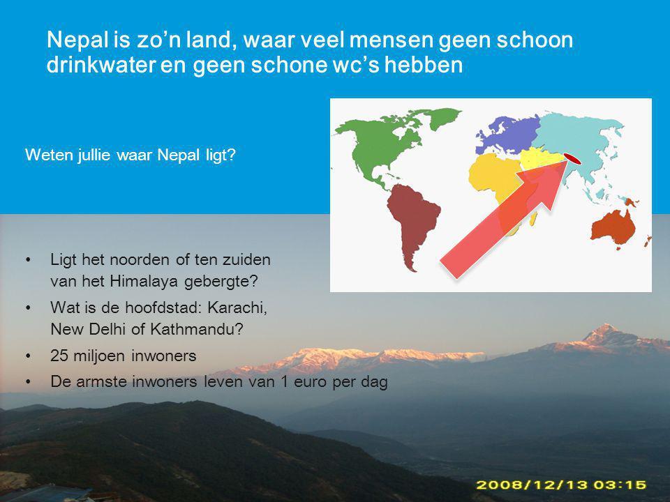 In Nepal hebben ze wel water, maar geen geld om het schoon te maken.