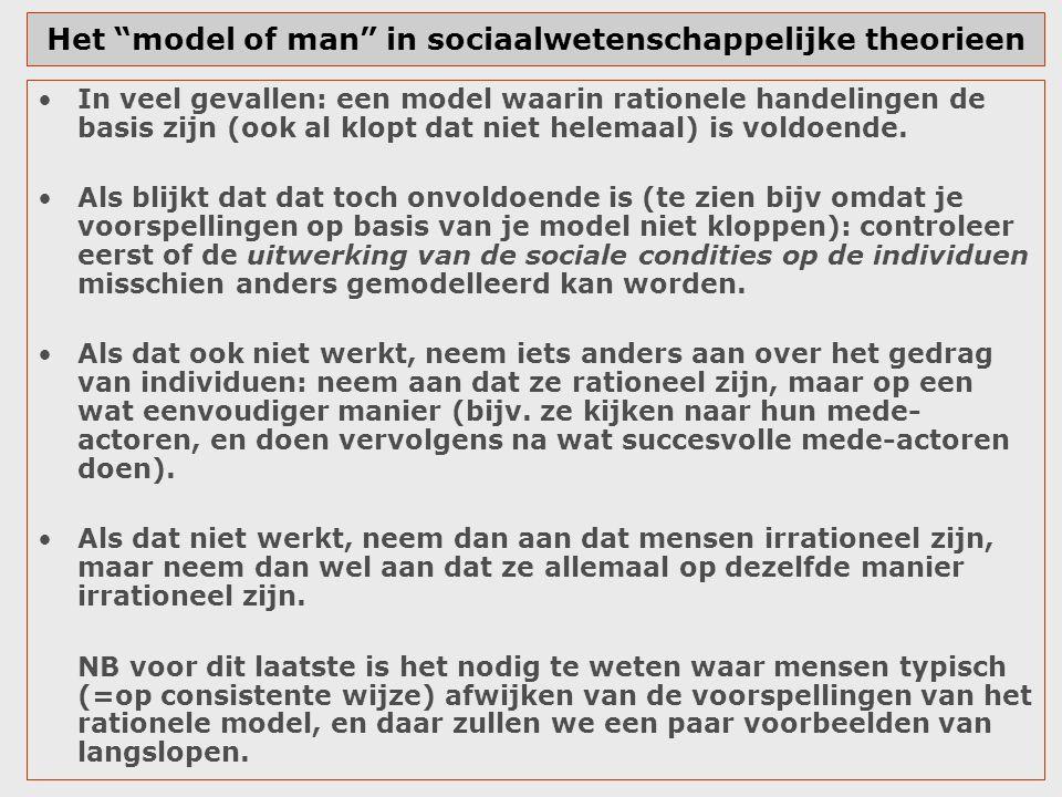 Het model of man in sociaalwetenschappelijke theorieen
