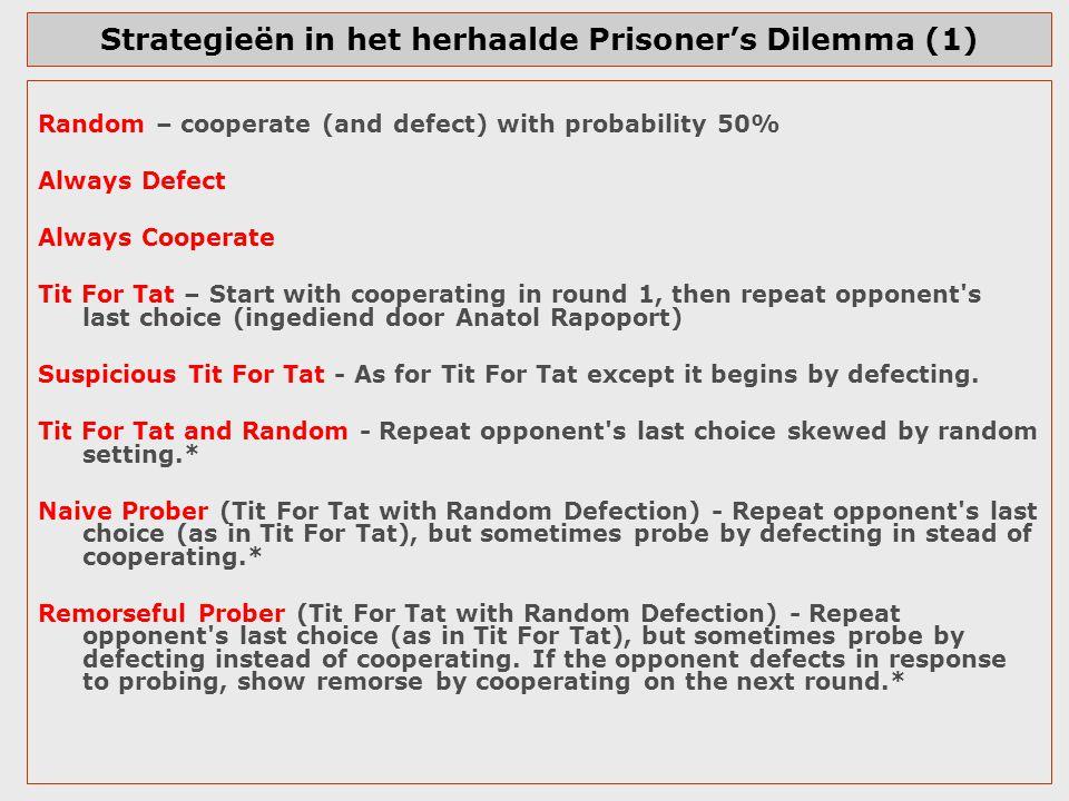 Strategieën in het herhaalde Prisoner's Dilemma (1)