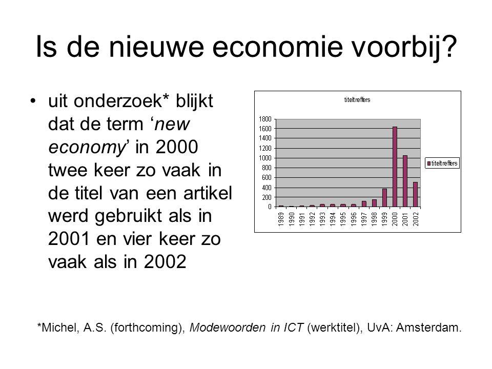 Is de nieuwe economie voorbij