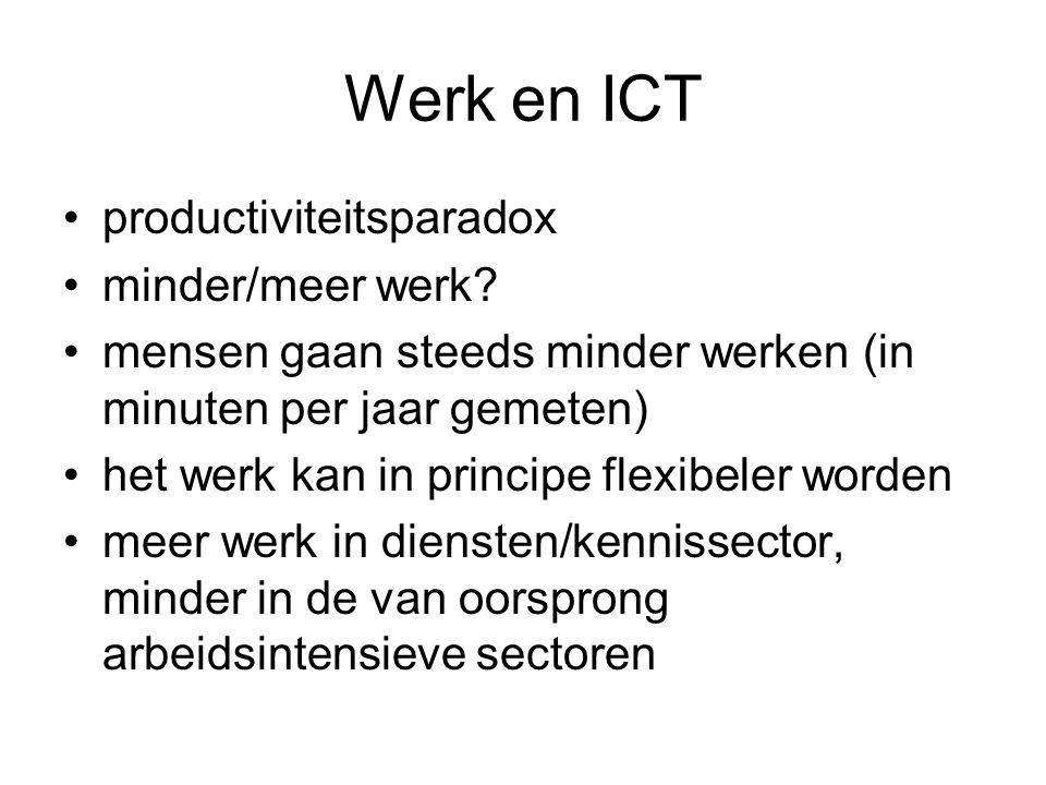 Werk en ICT productiviteitsparadox minder/meer werk