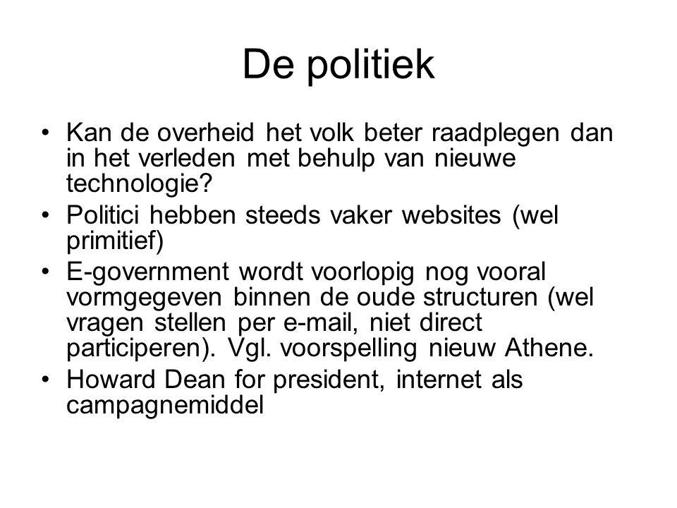 De politiek Kan de overheid het volk beter raadplegen dan in het verleden met behulp van nieuwe technologie
