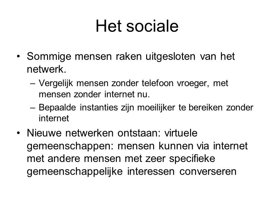 Het sociale Sommige mensen raken uitgesloten van het netwerk.
