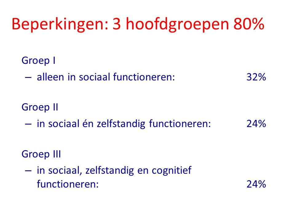 Beperkingen: 3 hoofdgroepen 80%
