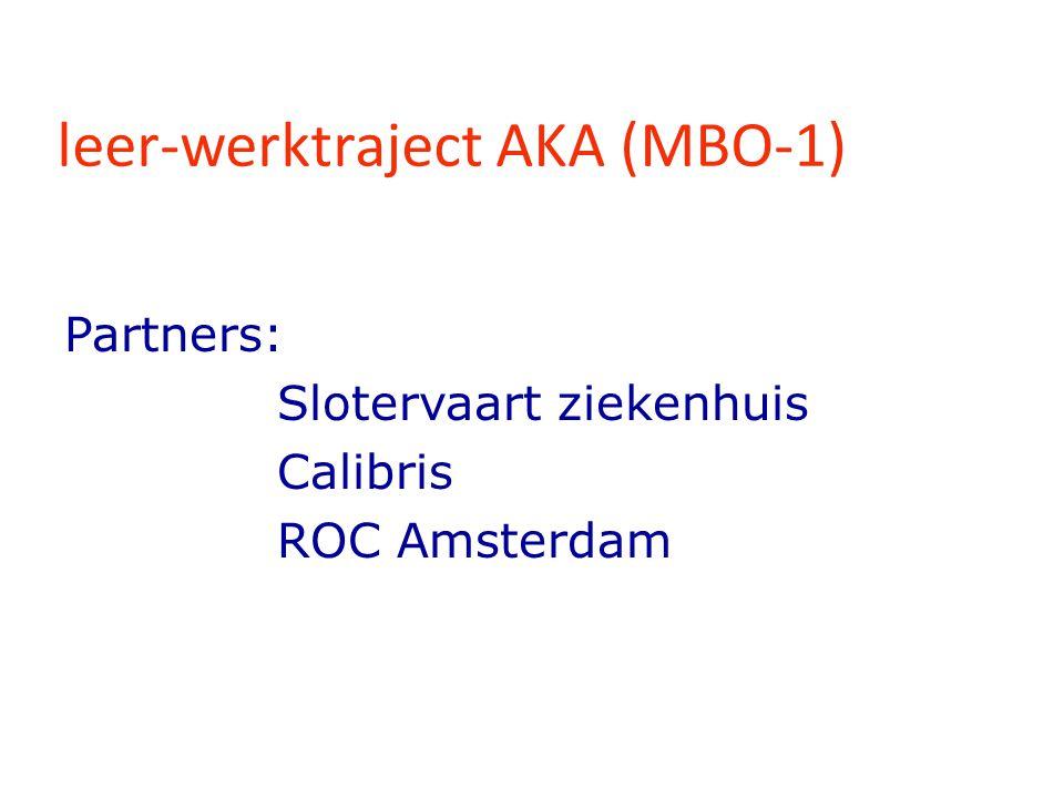 leer-werktraject AKA (MBO-1)