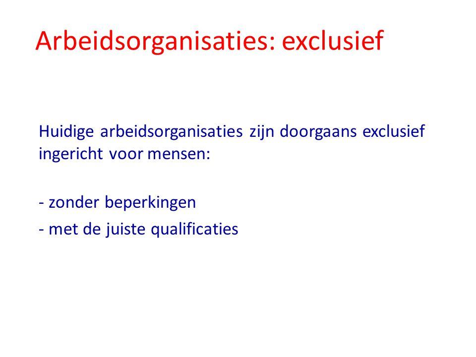 Arbeidsorganisaties: exclusief