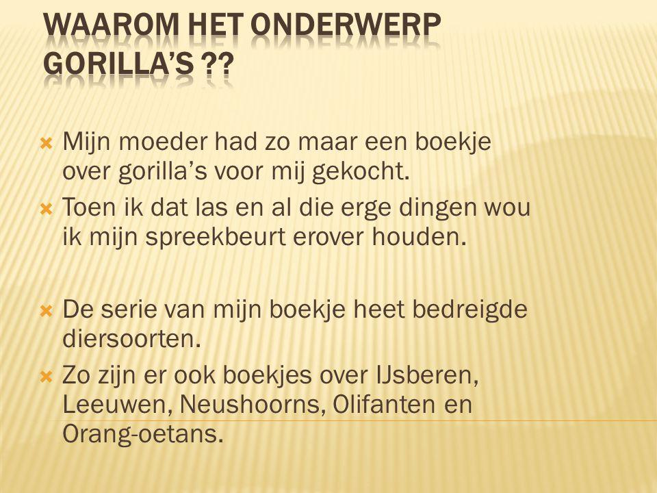 Waarom het onderwerp gorilla's