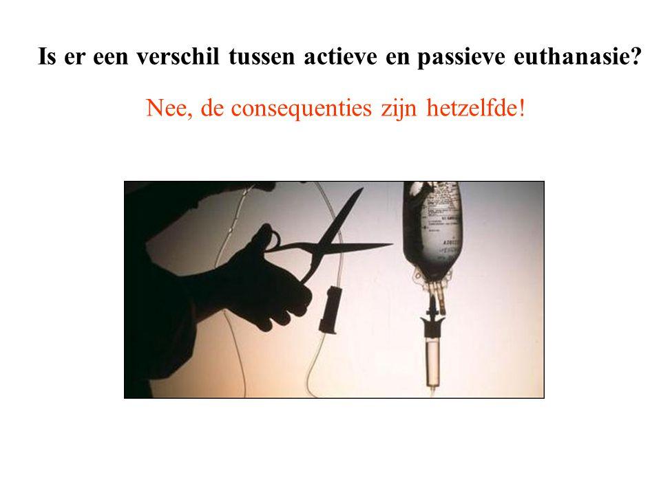 Is er een verschil tussen actieve en passieve euthanasie