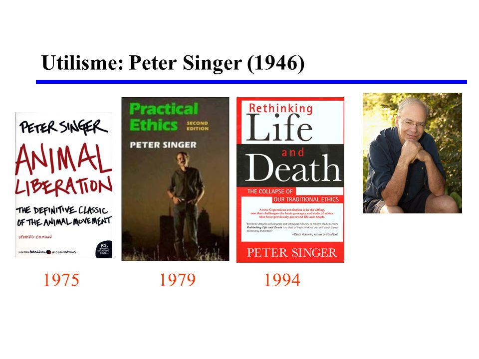 Utilisme: Peter Singer (1946)