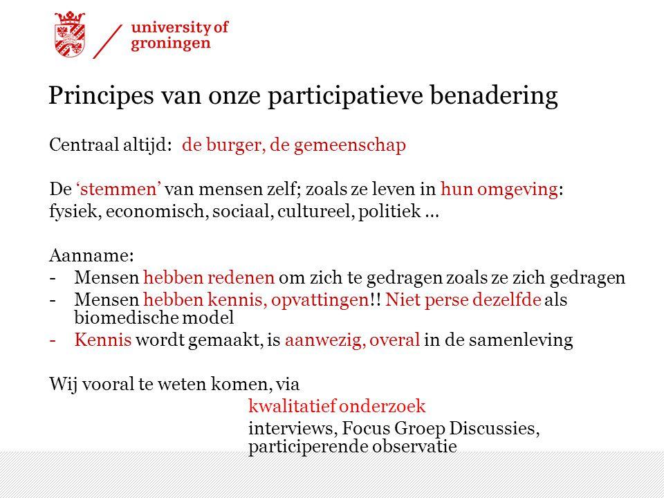 Principes van onze participatieve benadering