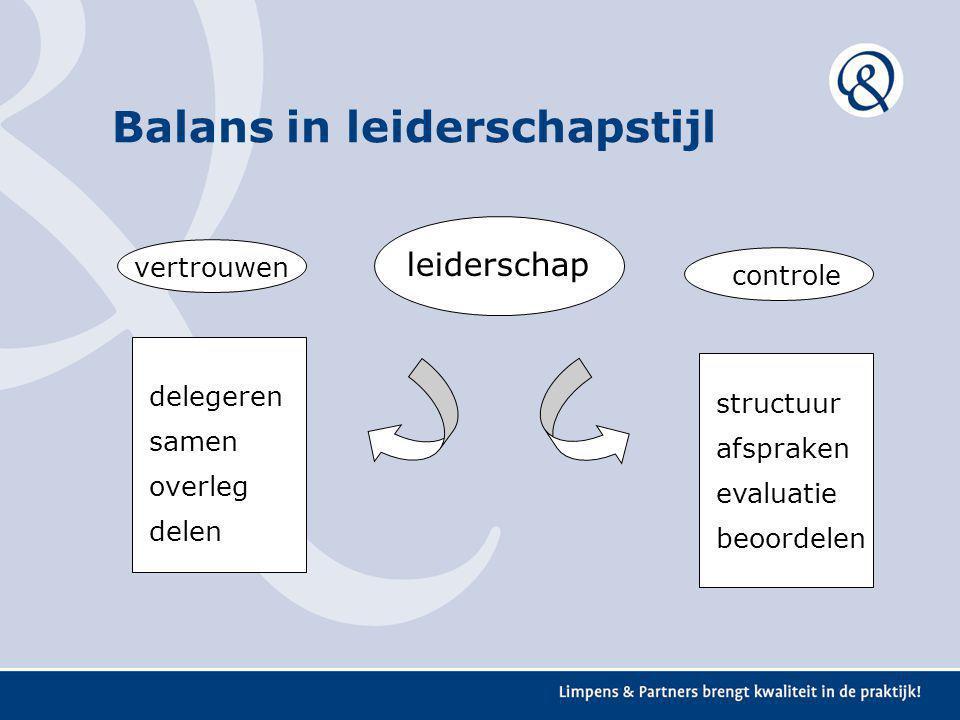 Balans in leiderschapstijl