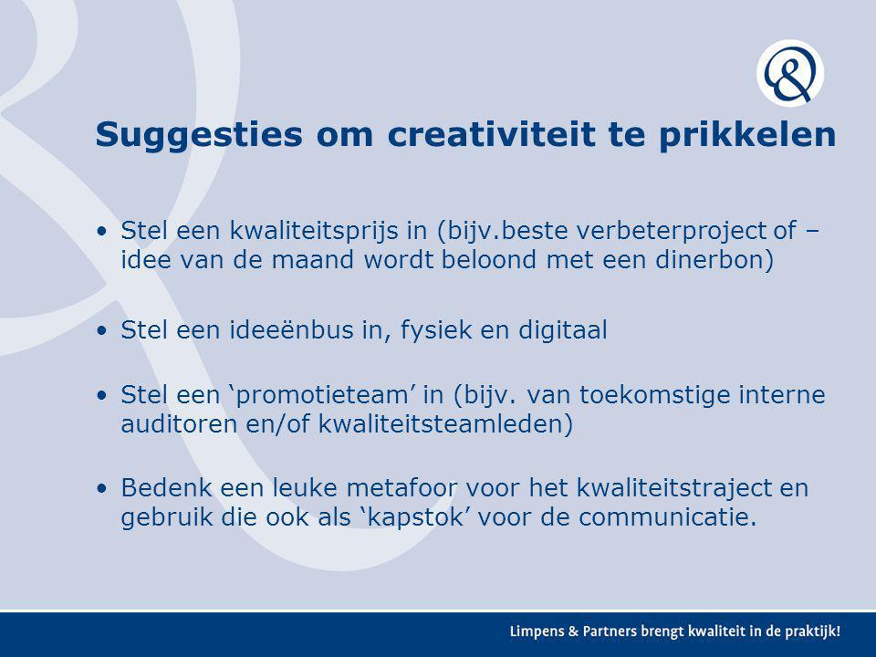 Suggesties om creativiteit te prikkelen